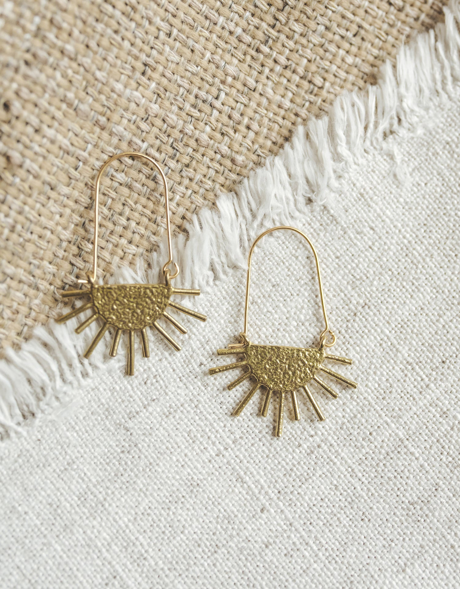 Sol Drip Earrings - Brass