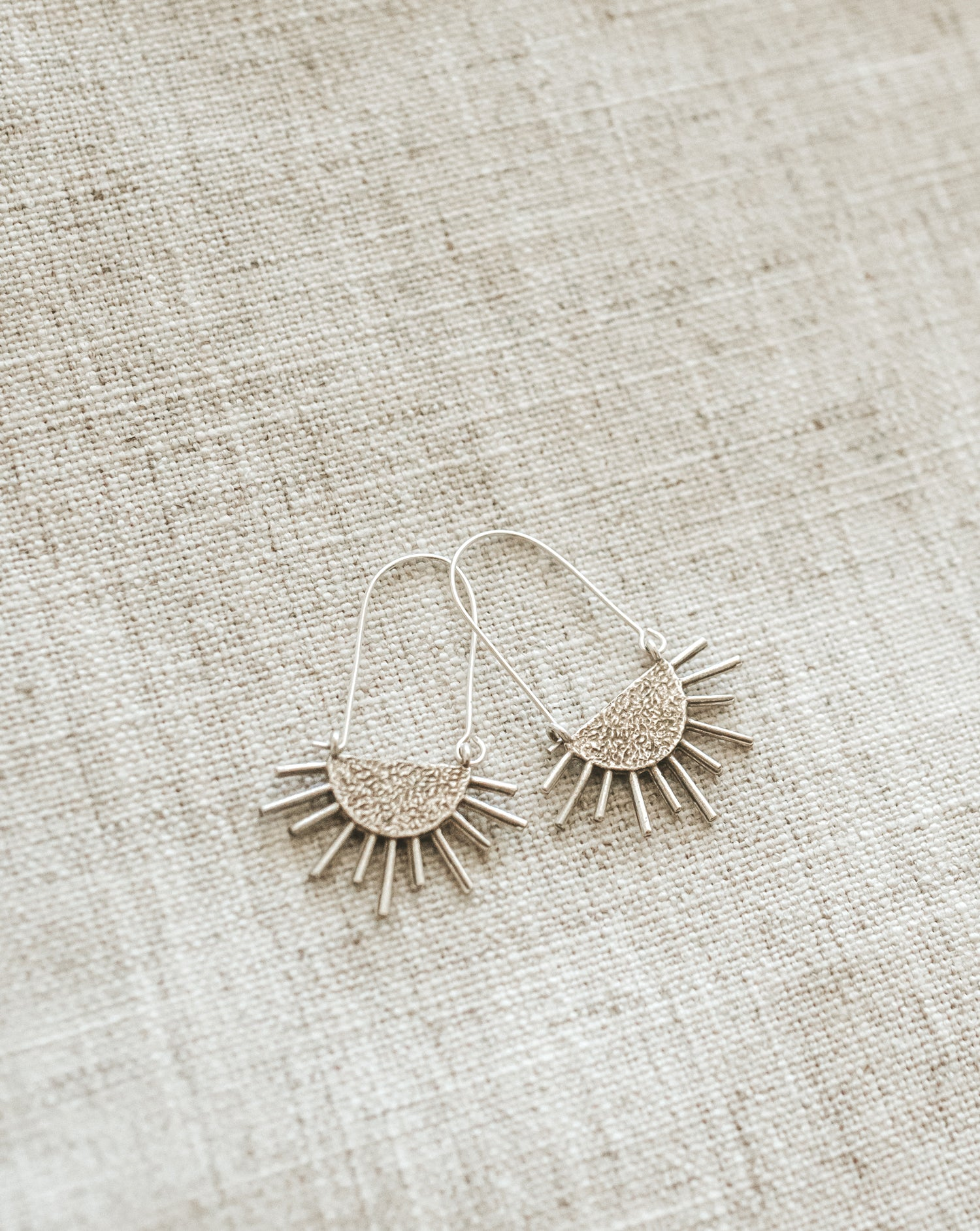 Sol Drip Earrings - Silver