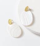 Iridescent Shell Earrings