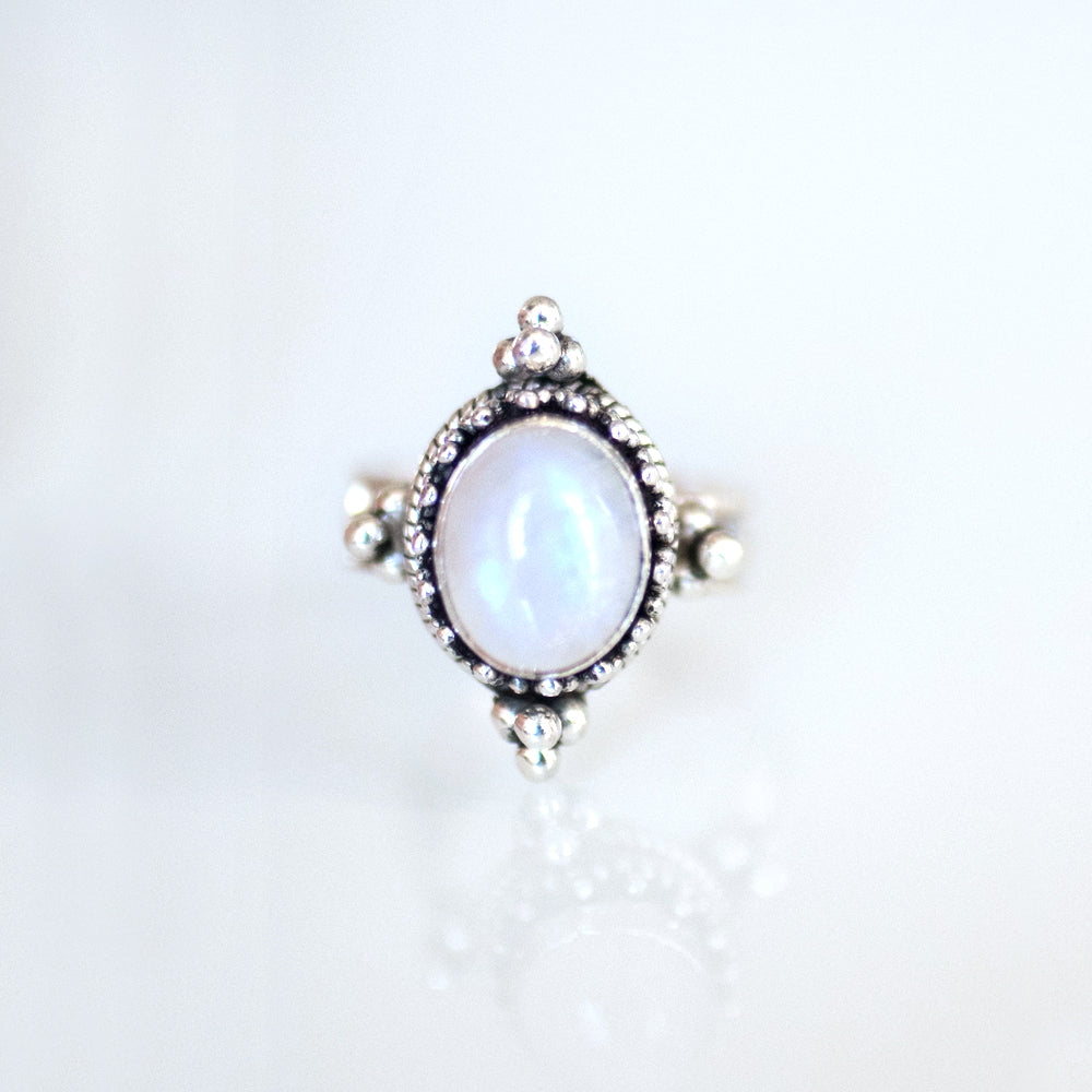Mystic Silver Ring Moonstone