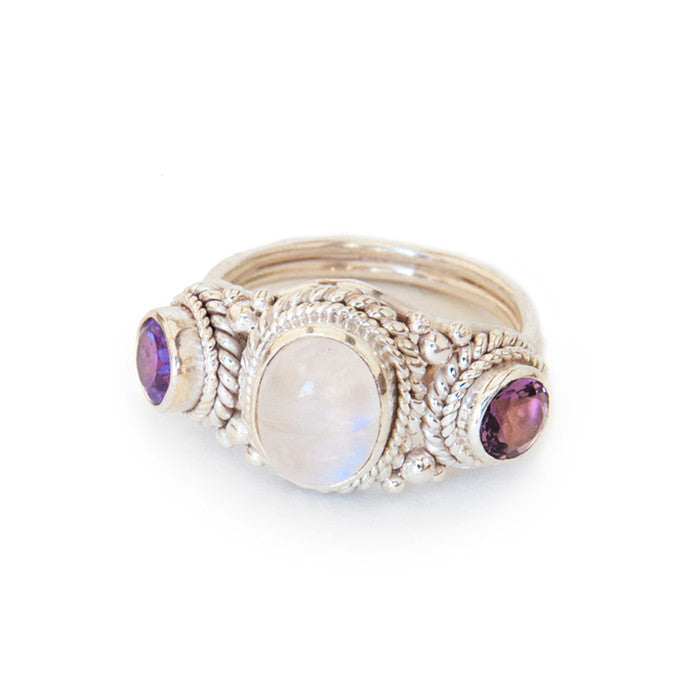 Juniper Ring • Amethyst + Moonstone