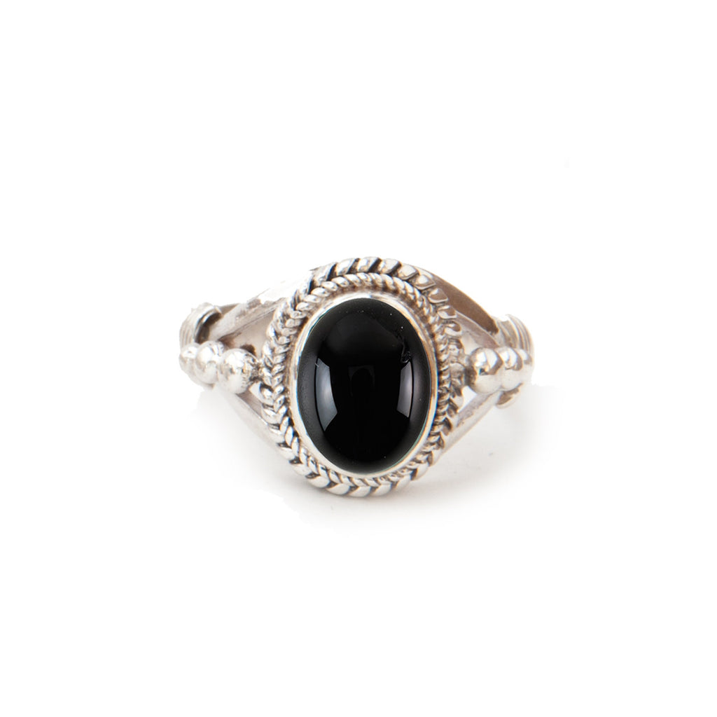 Astra Silver Ring Onyx