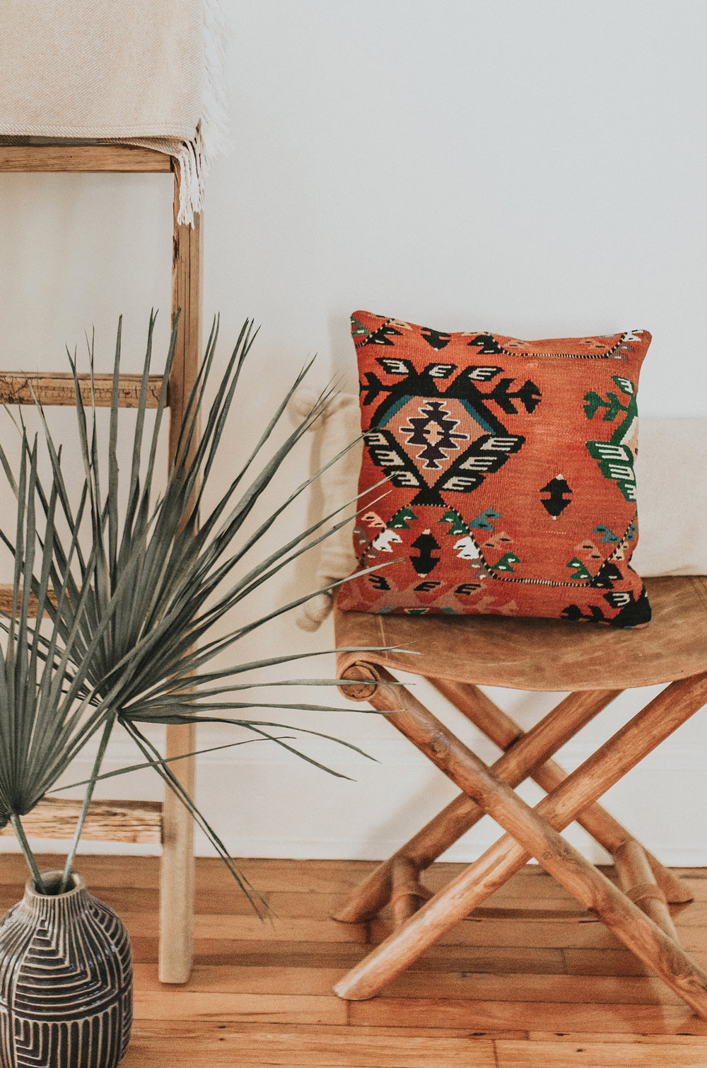 Burnt Orange Kilim Pillow