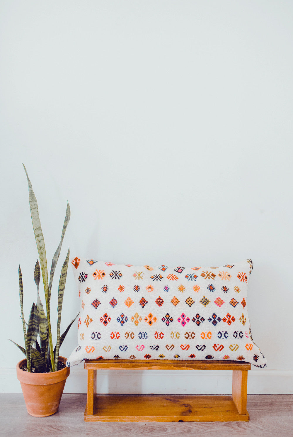 Cottage Retreat Lumbar Vintage Kilim Pillow