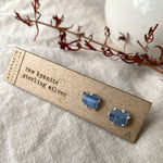 Raw Kyanite Pronged Earrings