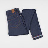 angle: indigo  Raleigh Denim Workshop Haywood high-rise skinny jeans in dark blue, back view