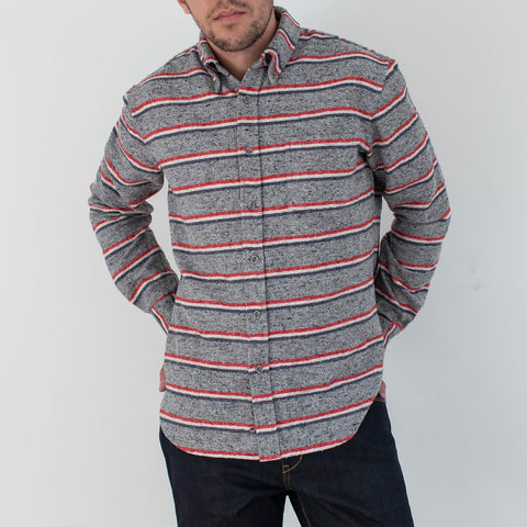 angle: Gravel Flannel Stripe