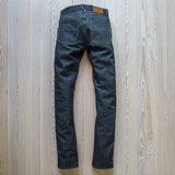 angle: 211  Raleigh Denim Workshop Jones thin fit selvage raw jeans, front view