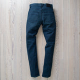 angle: canon  Raleigh Denim Workshop Martin thin taper fit jeans in original wash, front flat view