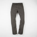 angle: military green  Raleigh Denim Workshop Jones thin fit pants in dark green, front flat view