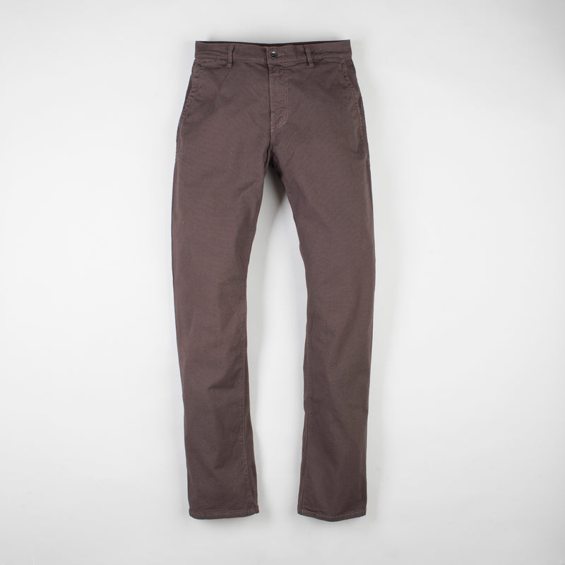 angle: smoke  Raleigh Denim Workshop Jones thin fit pants in smoke, front flat view