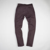 angle: walnut  Raleigh Denim Workshop Alexander work fit stretch pants in brown walnut, back