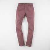 angle: russet  Raleigh Denim Workshop Alexander work fit stretch pants in reddish-brown, front flat view