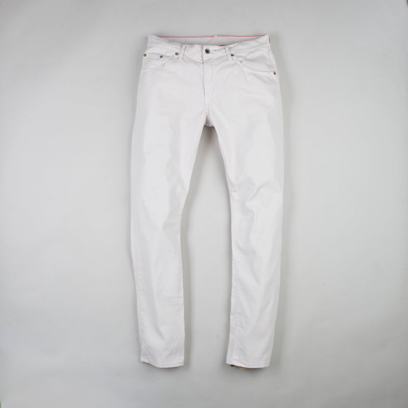 angle: cloud grey  Raleigh Denim Workshop Jones thin fit brushed twill men's pants in cloud grey.