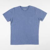 angle hover: navy  Raleigh Denim Workshop cotton/modal pocket crew neck tee in navy, front flat view