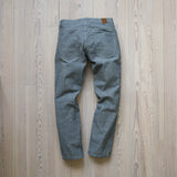 angle: 1x1  Raleigh Denim Workshop Gates 1x1 Jeans flat back