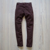 angle: currant  Raleigh Denim Workshop flat martin stretch pants currant front