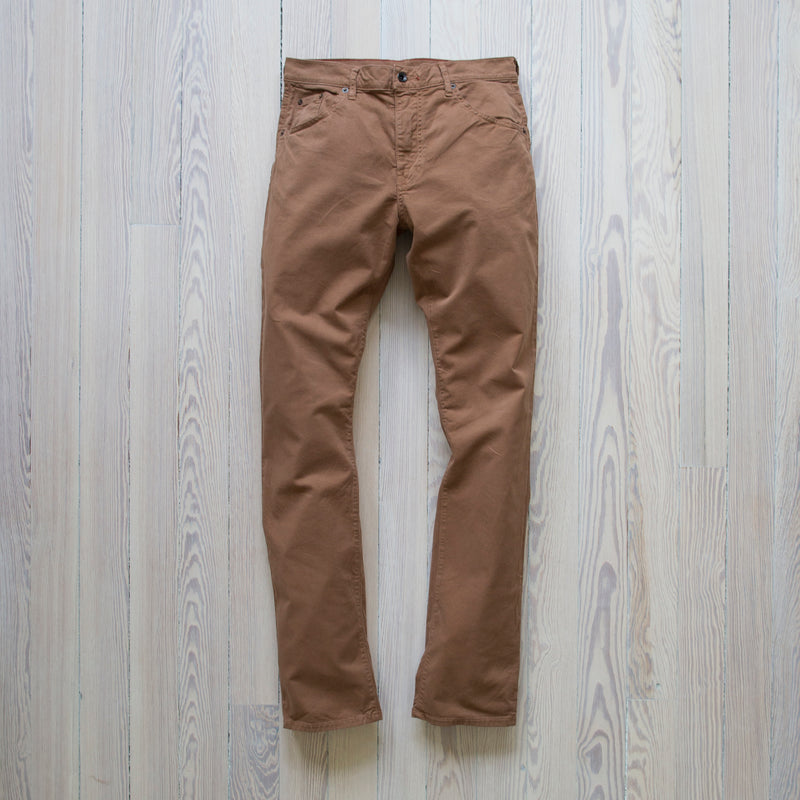 angle: doxin twill  A Raleigh Denim Workshop Jones pants in doxin twill