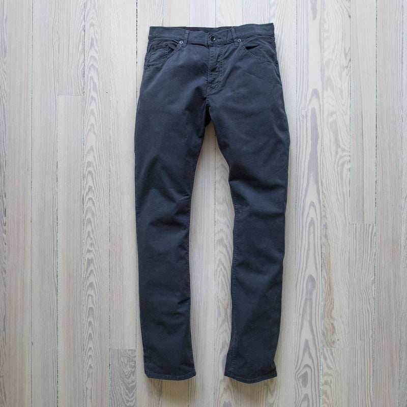 angle: marlin twill  A Raleigh Denim Workshop Jones pants in marlin twill