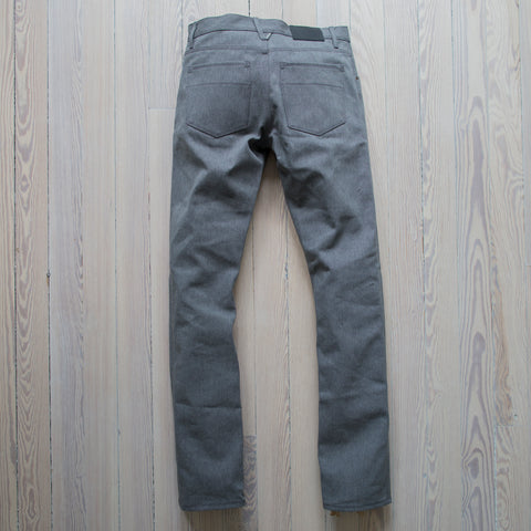 angle: greige selvage | A Raleigh Denim Workshop Jones pants in Greige Selvage