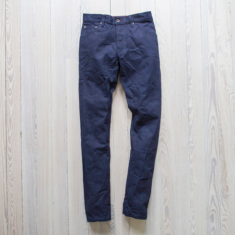 angle: cubist rinse | A Raleigh Denim Workshop Martin pants in Cubist Rinse