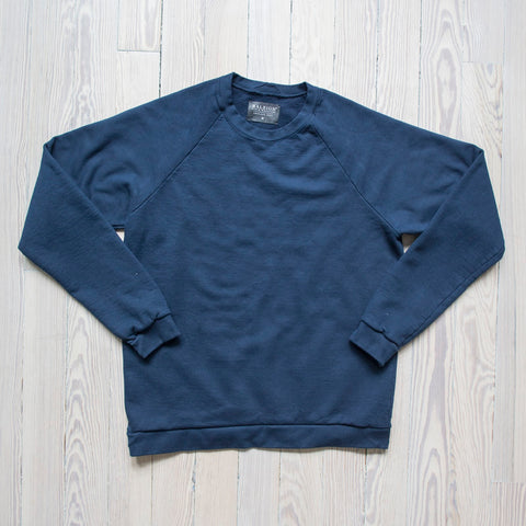 angle: space blue | A Raleigh Denim Workshop sweatshirt in space blue
