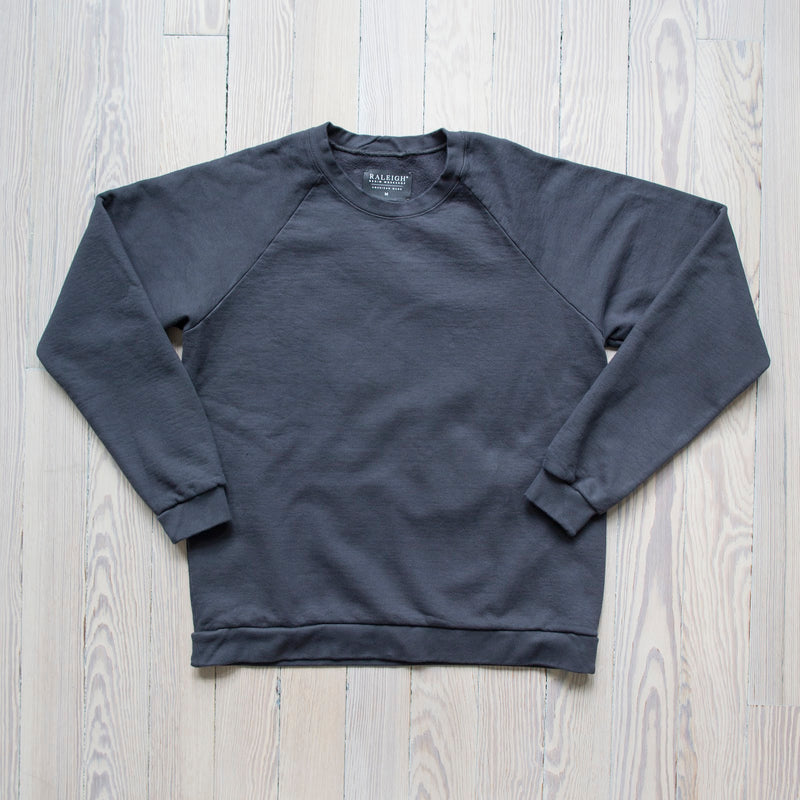 angle: granite  A Raleigh Denim Workshop sweatshirt in granite
