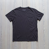 angle hover: granite  Raleigh Denim Workshop a cotton pocket crew neck tee in granite