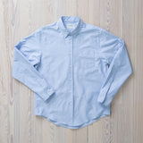 angle: blue oxford