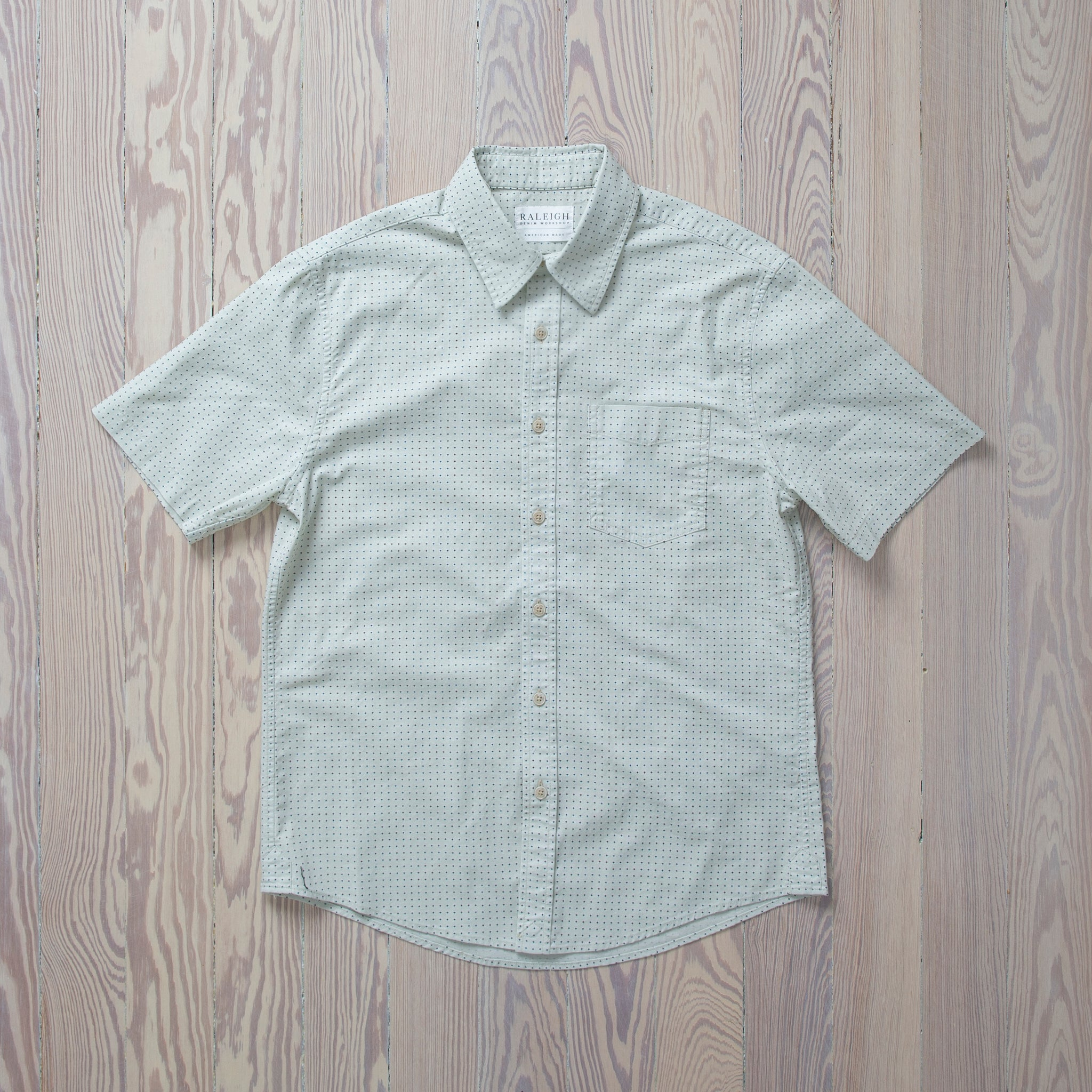 Short Sleeve Patch Pocket Buttonup  Time