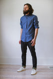 Patch Pocket Buttonup  Blue Paragon