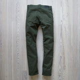 angle hover: dark moss twill  A Raleigh Denim Workshop Jones pants in dark moss twill