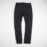 angle: black  Raleigh Denim Workshop Jones thin fit brushed twill pants, in black, flat back
