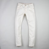 angle: natural  Raleigh Denim Workshop Jones thin fit in white, front view