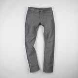 angle: basalt  Raleigh Denim Workshop Jones thin fit in gray (basalt), front view