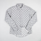 angle hover: grey heather  Raleigh Denim Workshop Classic Button-up: Slub in grey heather polka dot, front 3.