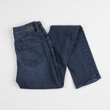 angle: canon  Raleigh Denim Workshop Haywood high-rise skinny jeans with a dark wash, back view