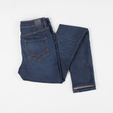 angle: phantom  Raleigh Denim Workshop Haywood high-rise skinny fit dark blue jeans, back view