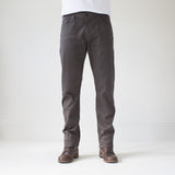 angle hover: smoke  Raleigh Denim Workshop Jones thin fit brushed twill pants, in smoke gray, front