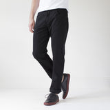 angle: black   Raleigh Denim Workshop Jones thin fit brushed twill pants, in black, front side