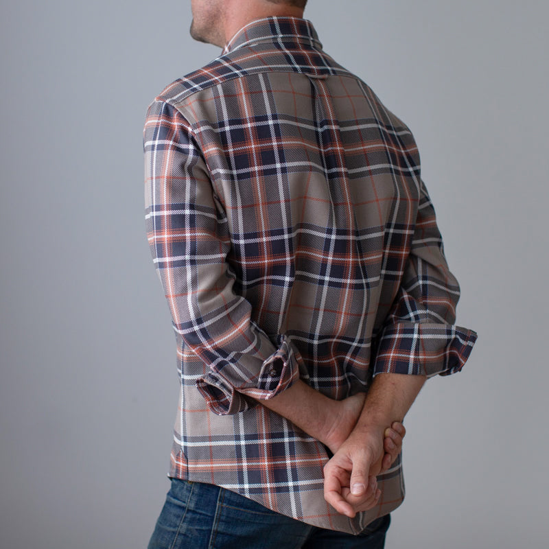Patch Pocket Buttonup  Sandstone Plaid