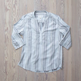 angle: striped twill  Raleigh Denim Workshop striped twill silk blend shirt