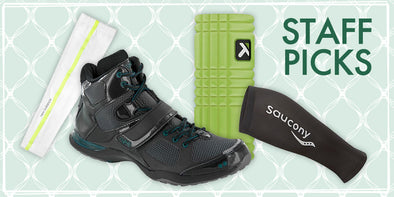Staff Picks: Arm & Calf Sleeves, Foam Roller & Ryka Downbeat Aerobic Shoes