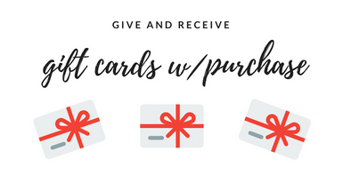 Gifts with Gift Certificates: Give and Get!