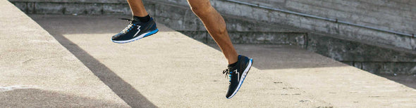 Male runner in 361 running shoes