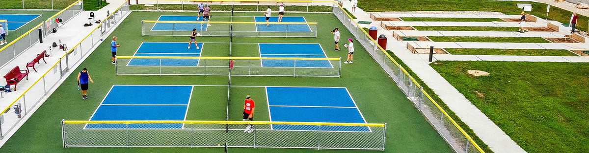 Pickleball Courts and Players