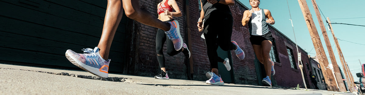 Group of runners in adidas Ultraboost 19 running shoes