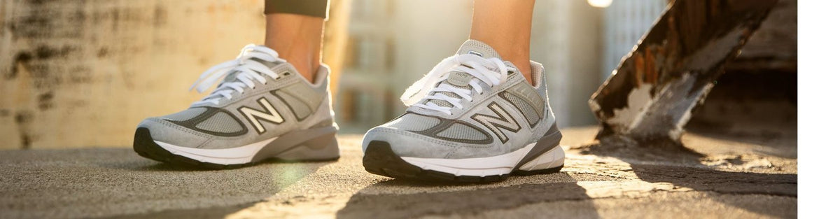 Man in New Balance Running Shoes