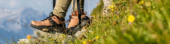 Women hiking in Salomon hiking shoes