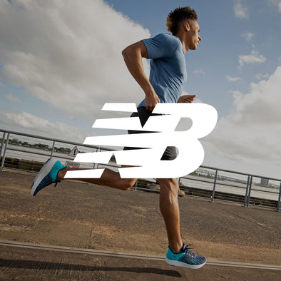 Man in New Balance Running Gear with Logo